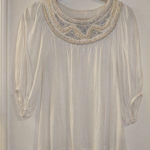 Anthropologie C. Kerr embellished blouse